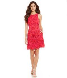 Aidan Aidan Mattox Floral Lace Sheath Dress #Dillards