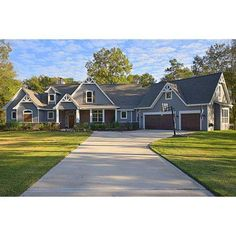 Construction-Ready Spacious Cottage House Plan with Slab Foundation Printed Sets) Image 1 of 12 Garage House Plans, Cottage House Plans, Craftsman House Plans, Dream House Plans, Cottage Homes, Dream Houses, Cottage House Designs, Best House Plans, Cottage Design