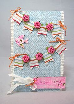 frou frou girly banner card