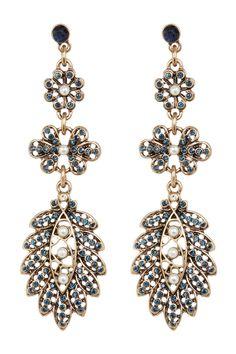 Crystal Detail Cammy Drop Earrings