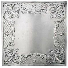 "Package of 6 - 12"" x 12"" Vintage Look Reproduction Galvanized Metal Embossed Tin Gothic Scroll Ceiling Tile by Unknown. $46.74. Galvanized Tin Metal. Package of 6 Vintage Reproduction Ceiling Tiles. Embossed Tin Gothic Scroll Design. Each Tile: 12"" x 12"". 12"" X 12"" Vintage Look Reproduction Galvanized Metal Embossed Tin Gothic Scroll Ceiling Tile"