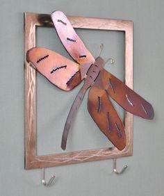 Dragonfly Key Holder by ArtNMetal on Etsy