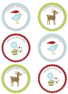 Hand Made With Love Round labels perfect for your gifts. Free Download, designed by Erin Rippy