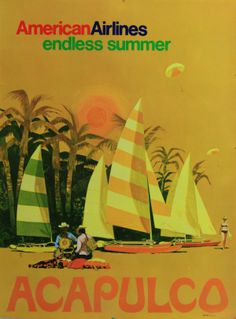 """Acapulco • American Airlines """"Endless Summer"""" 1970"""