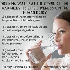 Drinking Water at the Correct Time Maximizes its Effectiveness on the Human Body 1604827_521262774649065_72620321_n