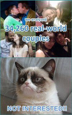 Grumpy cat hates couples