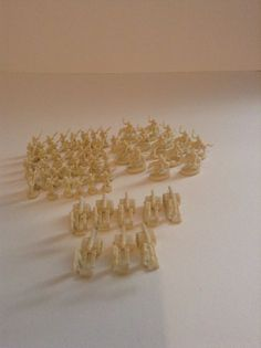 2003 Risk Board Game Full Set White 60 Piece Replacement Parts Set Army Unit…