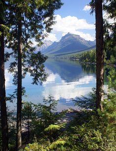 Lake Mcdlonald Through The Trees Glacier National Park, Montana; Print by .Marty Koch