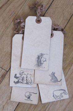 vintage winnie the pooh tags