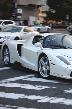 """""""White Ferrari Enzo """""""