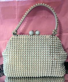 mid century hobnail purse