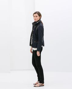 ZARA - WOMAN - COMBINATION QUILTED JACKET