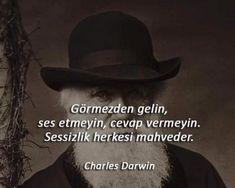 Görmezden gelin, ses etmeyin cevap vermeyin, sessizlik herkesi mahveder... Lets Do It, Let It Be, Dark Meaning, Good Sentences, Charles Darwin, Revolutionaries, Karma, Literature, Motivational Quotes