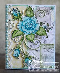 New Blushing Rose Collection from Heartfelt Creations                                                                                                                                                                                 More