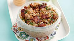 For baon-worthy fried rice, mix in your fave barbecue chicken! Cooking On A Budget, Budget Meals, Budget Recipes, Lunch Recipes, Cooking Recipes, Meal Recipes, Rice Recipes, Recipes Dinner, Healthy Recipes