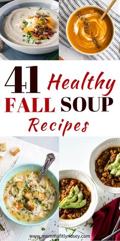 An easy weeknight dinner is one of my favorite fall soup recipes! Read for 41 healthy fall soup recipes for a quick & healthy weeknight dinner! 41 Healthy & Hearty Fall Soup Recipes healthy fall soup recipes for quick easy healthy weeknight dinner Healthy Fall Soups, Easy Healthy Dinners, Healthy Cooking, Healthy Dinner Recipes, Healthy Eating, Clean Eating, Easy Cooking, Healthy Crockpot Soup Recipes, Cooking Kale