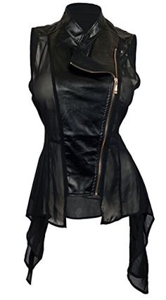 eVogues Plus Size Sleeveless Sheer and Faux Leather Panel Jacket Black - 3X eVogues Apparel http://www.amazon.com/dp/B00NJP6U0C/ref=cm_sw_r_pi_dp_eum1ub1MBSDM0