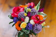 A Rainbow of Colours for a Woodland, Carnival Inspired Wedding