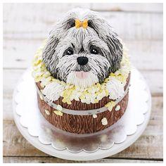 Woof you always 😘😘 Bird Cakes, Dog Cakes, Fondant Cakes, Cupcake Cakes, Puppy Birthday Cakes, Dog Cake Topper, Puppy Cake, Barbie Cake, Animal Cakes