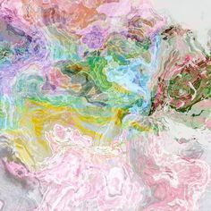 Large abstract art canvas print 30x30 Pastel Fantasy