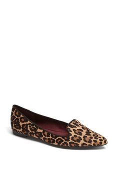 $59, Brown Leopard Suede Ballerina Shoes: Nine West Sossi Flat Leopard 85 M. Sold by Nordstrom. Click for more info: https://lookastic.com/women/shop_items/80463/redirect