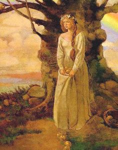 """Idun-Norse Goddess  Idun, """"She who renews"""", is known as the goddess of spring, eternal youth, health and life."""