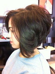 A line Bob Woman's Hair Cut