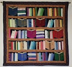 This is the quilt that hangs above the checkout desk at the Willits Library. Photo by Lynn. This quilt was made by Joan Mack. Photo by Beedle Um Bum via flickr -