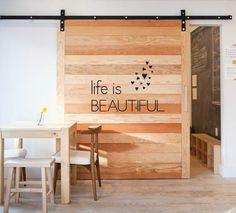 Custom Wall Vinyl  Life Is Beautiful    12 x 7.5 by JordyO on Etsy, $17.50