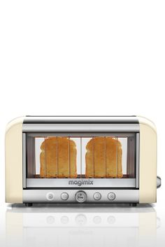 Clear see through toaster! Genius - so clever... Yes, this is a real product! See your toast as it cooks... Want! #product_design