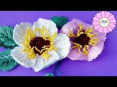 Hand embroidery amazing trick | wool flower embroidery trick @Nakshi Kantha World - YouTube Hand Embroidery Videos, Hand Embroidery Flowers, Flower Embroidery Designs, Learn Embroidery, Crewel Embroidery, Embroidery For Beginners, Ribbon Embroidery, Embroidery Patterns, Art Patterns