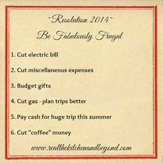 fabulously frugal resolutions to make your dollar stretch farther #frugal #budget