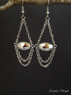 Free Shipping within USA Silver Teardrop Earrings by LanniesDesign