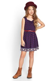 Floral Sweetheart A-Line Dress (Kids) #F21Girls #OOTD