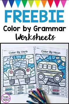 Free Color by Grammar Worksheets (Parts of Speech)
