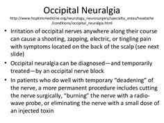 Occipital Nerve Block, Occipital Neuralgia, Neck Pain, Disorders, Neurological Disorder, Google Search, Image, Sore Neck