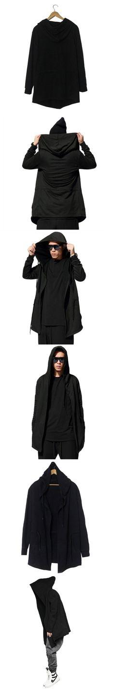 Men's Sweatshirt Hoodie Male. female Hood Cardigan Black Cloak Outerwear New fashion Hip-hop style Sweatshirts Unisex