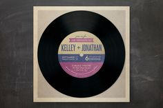 Perfect wedding invitations for music lovers!