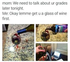 When Mom Wants To talk About Your Grades funny jokes parents lol funny sayings joke humor funny pictures funny kids funny images