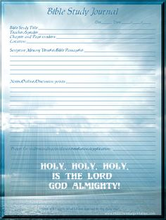 Bible study journal page