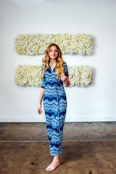 Marisol Wrap Maxi Dress Blue