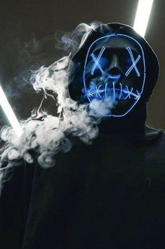 PURGE LED LIGHT UP MASK This item is manufactured with premium material for durable and long lasting use. Glowing El Wire is woven into the design of this Smoke Wallpaper, Graffiti Wallpaper, Neon Wallpaper, Phone Screen Wallpaper, Wallpaper Backgrounds, Hacker Wallpaper, Supreme Wallpaper, Gas Mask Art, Masks Art
