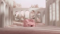 The dreamy Hortensia Armchair designed by Andrés Reisinger and Júlia Esqué for Moooi is made up of 30,000+ laser-cut petals.