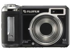 Fujifilm Finepix E900 9MP Digital Camera with 4x Optical Zoom (Black). 9-megapixel CCD captures enough detail for photo-quality 17 x 23-inch prints. 4x optical zoom; 2.0-inch LCD display. Real Photo Technology provides faster operation, low noise processing, better low-light shooting, and higher shutter speeds. Compatible with optional lens adapters that can increase optical zoom. Stores images on xD Picture Cards; powered by 2 AA-size batteries (2 AA alkaline batteries included).