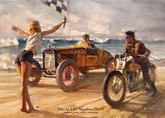 David Uhl's Daytona Beach Motorcycle Race Art