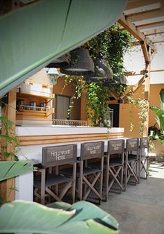 Our courtyard is a great place to relax under the sun! #hollywoodhotel
