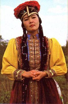Kalmyk woman Kalmykia, Eastern Russia, Asia.