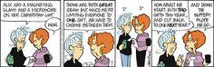 The slippery slope of Christmas shopping. Stone Soup on GoComics.com #Christmas #ChristmasShopping #Comics #Humor