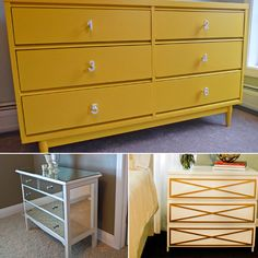 These are great ideas!  The mirrored dresser is one of my favorites as is the multicolored (pink) piece.