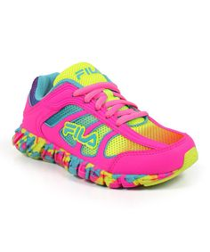 Take a look at the FILA Hot Pink & Yellow Runabout Sneaker on #zulily today!